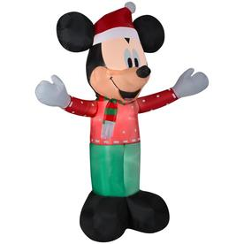 disney 6 ft lighted mickey mouse christmas inflatable