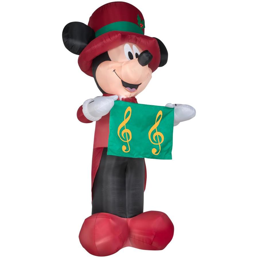 disney 145 ft x 584 ft lighted mickey mouse christmas inflatable - Disney Christmas Inflatables