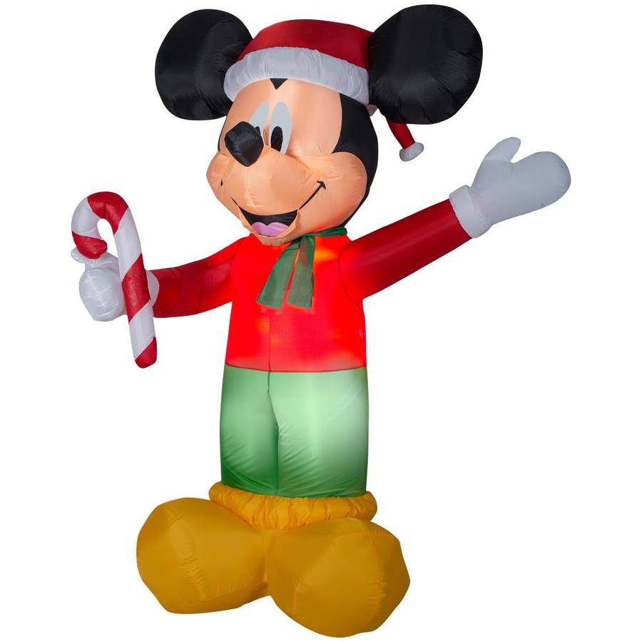 disney 899 ft x 594 ft lighted mickey mouse christmas inflatable - Christmas Mickey Mouse