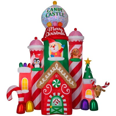 Inflatable Christmas Decorations.10 5 Ft Lighted Castle Christmas Inflatable