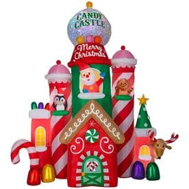 holiday living 105 ft lighted castle christmas inflatable - Mickey Mouse Christmas Lawn Decorations