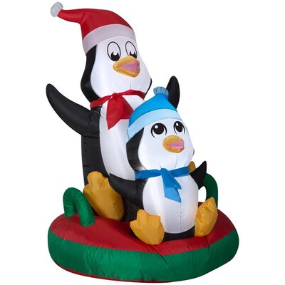 Lowes Christmas Inflatables.4 Ft Lighted Penguin Christmas Inflatable