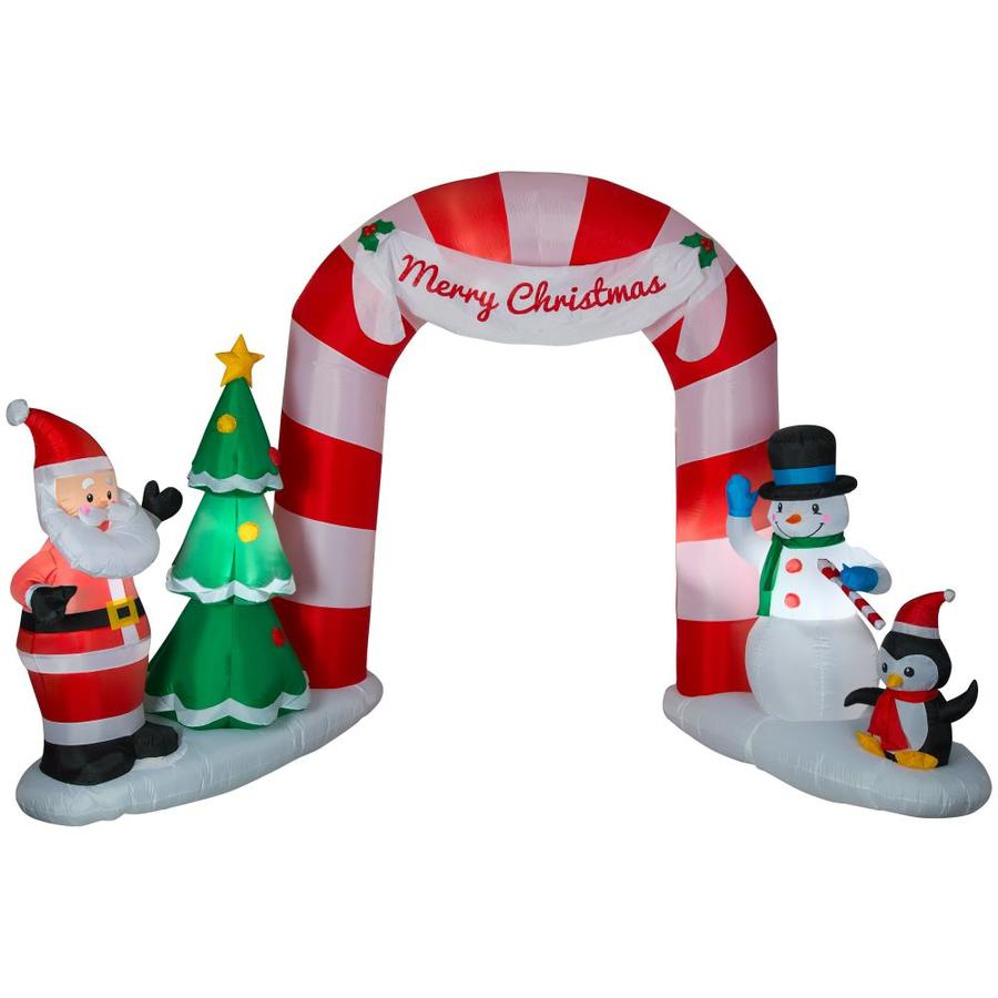 Shop Holiday Living 7.91-ft Lighted Archway Christmas Inflatable at ...