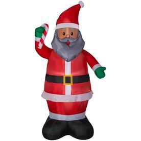 holiday living 699 ft lighted santa christmas inflatable
