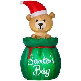f841555b5d150 Holiday Living 4.49-ft Animatronic Lighted Santa Christmas Inflatable