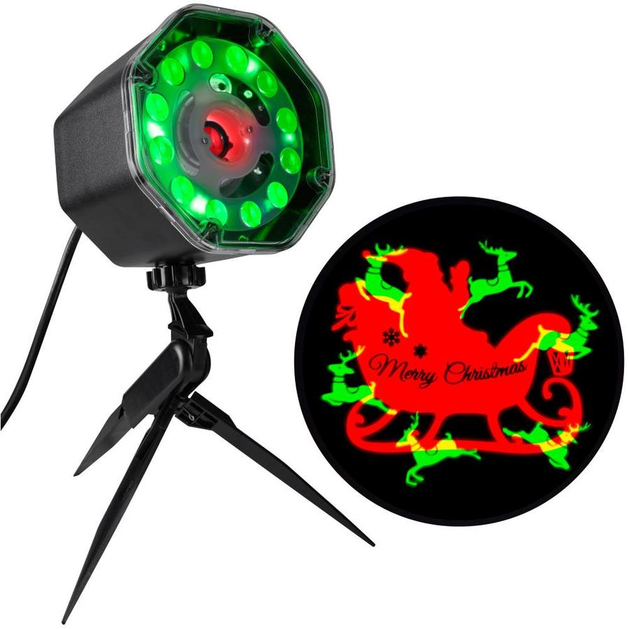 Gemmy Lightshow Projection Multi Function Red Green Led Design Christmas Indoor