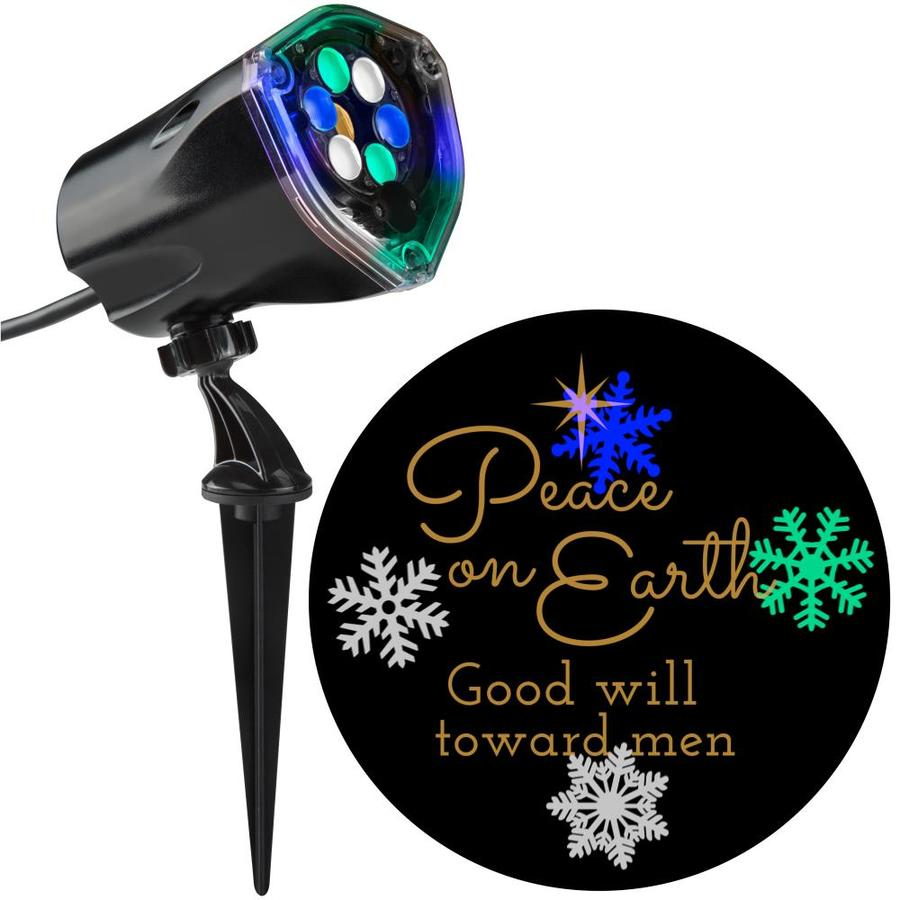 Gemmy Lightshow Projection Multi Function Multicolor Led Design Christmas Indoor Outdoor Stake Light Projector