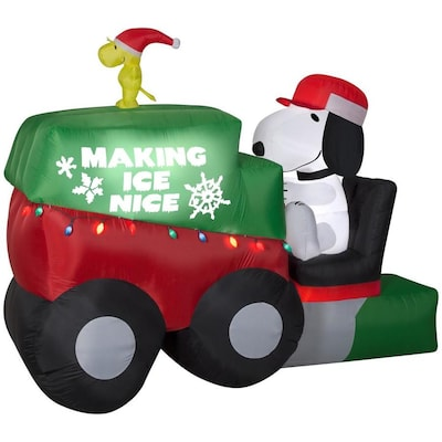 6 99 Ft Animatronic Lighted Snoopy Christmas Inflatable