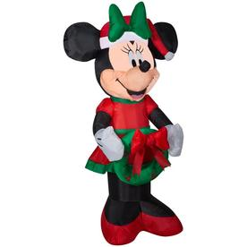 8b7e3ca2c1c8d Disney 3.51-ft Lighted Minnie Mouse Christmas Inflatable