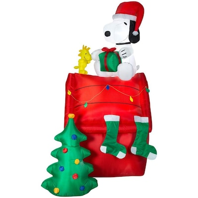 Christmas Planters Peanuts.8 5 Ft Lighted Snoopy Christmas Inflatable