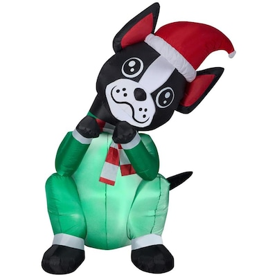 Gemmy Christmas Inflatables 2019.Gemmy Animated Airblown Begging Boston Terrier Dog 6 Foot