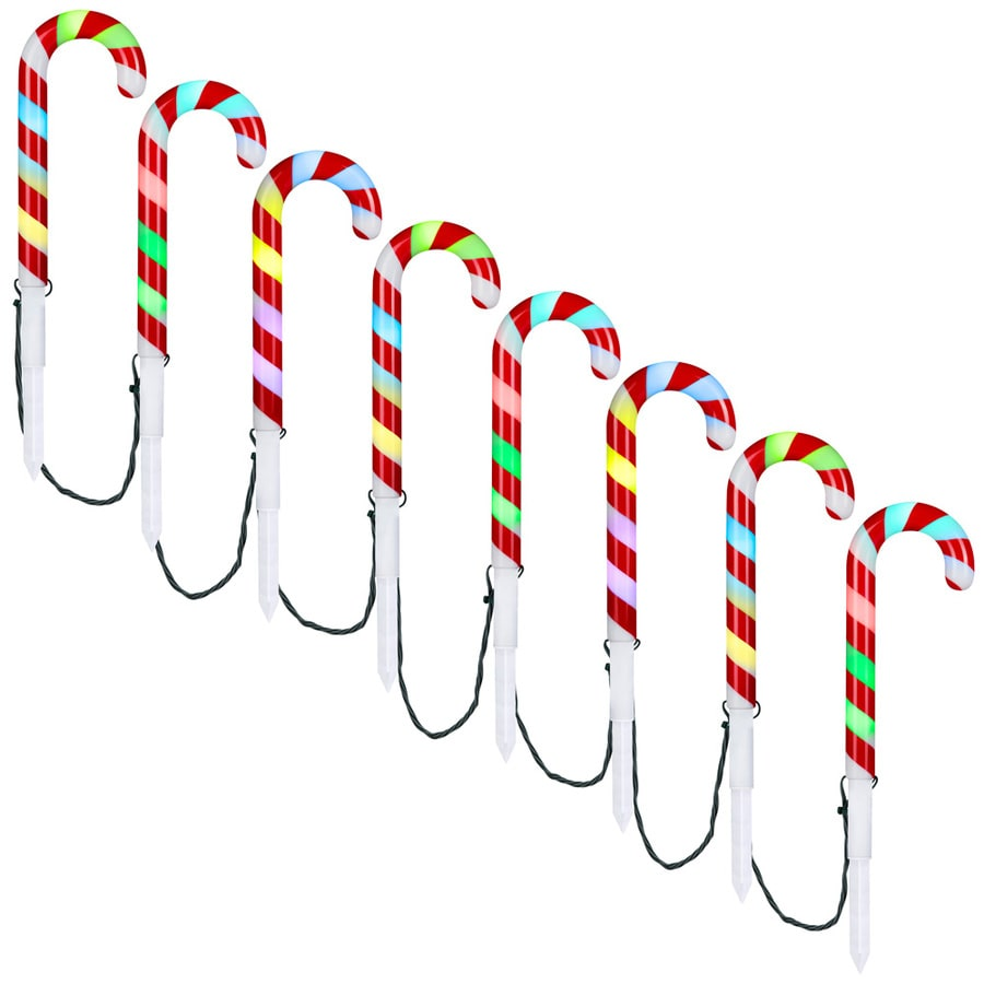 gemmy orchestra of lights 8 marker color changing candy cane