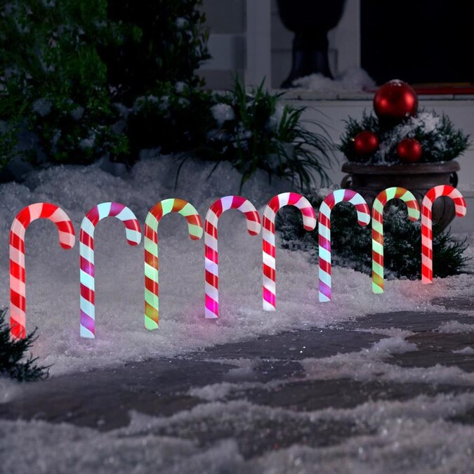 Christmas Candy Cane Carnival Style Light by Temerity Jones