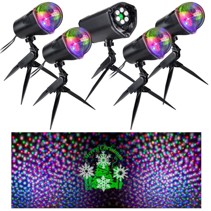 gemmy orchestra of lights multi function multicolor led multi design christmas indooroutdoor - Christmas Light Stakes Lowes