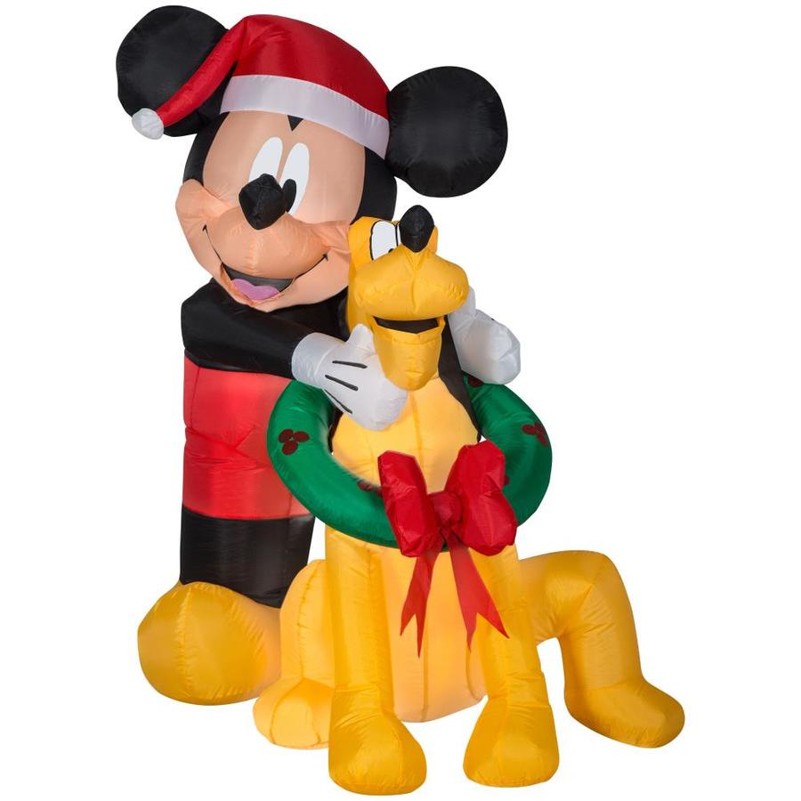 Disney 4 99 Ft Lighted Mickey Mouse Christmas Inflatable