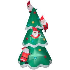 Gemmy Airblown Christmas Tree of Many Santas 9 foot Christmas Inflatable