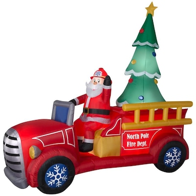 8 2021 Ft Lighted Santa S Delivery Truck Christmas Inflatable