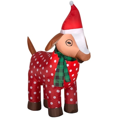 Christmas Goat.3 5105 Ft Lighted Goat Christmas Inflatable