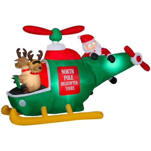 Gemmy 5 1838 Ft Animatronic Lighted Helicopter Christmas Inflatable In The Christmas Inflatables Department At Lowes Com