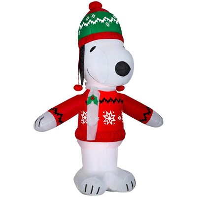 Christmas Planters Peanuts.6 Ft Lighted Snoopy Christmas Inflatable