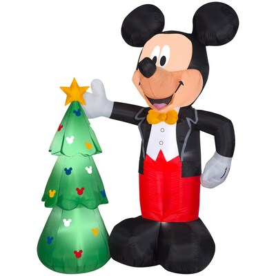 Mickey Mouse Christmas Tree Decorating Ideas.7 51 Ft Lighted Mickey Mouse Christmas Inflatable