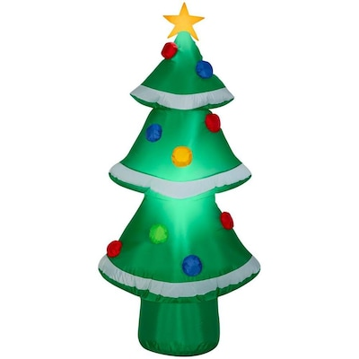 Inflatable Christmas Tree.Gemmy 4 Ft Lighted Christmas Tree Christmas Inflatable At