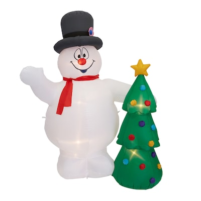 FAST SHIP Warner Bros FROSTY THE SNOWMAN 5 Ft Christmas Airblown Inflatable