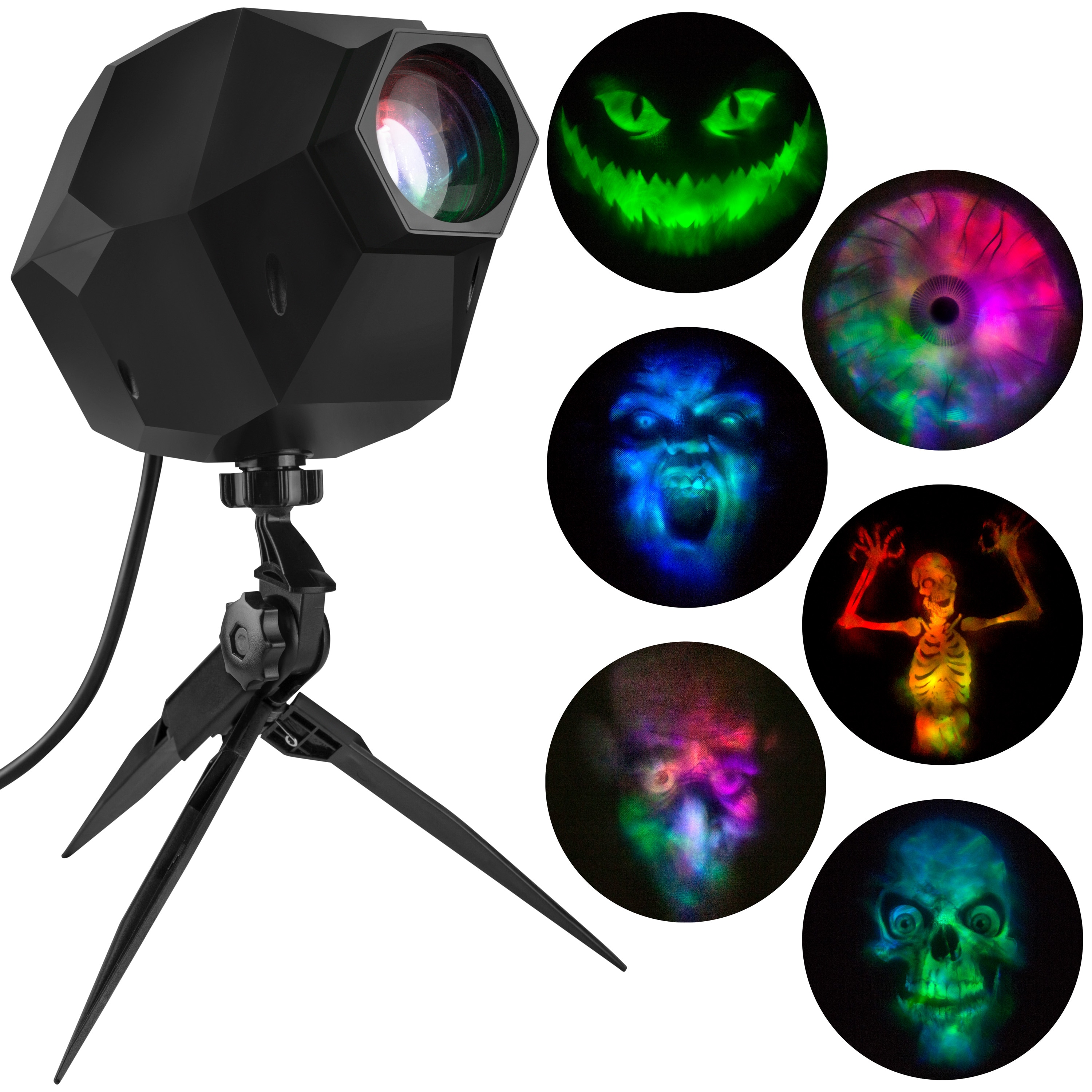 shop gemmy multi-color led halloween light show projector with 6