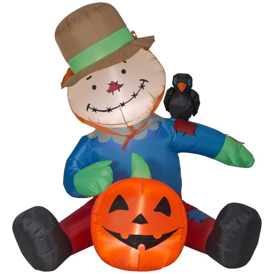 Holiday Living 4 Ft X 4 04 Ft Lighted Scarecrow Halloween Inflatable