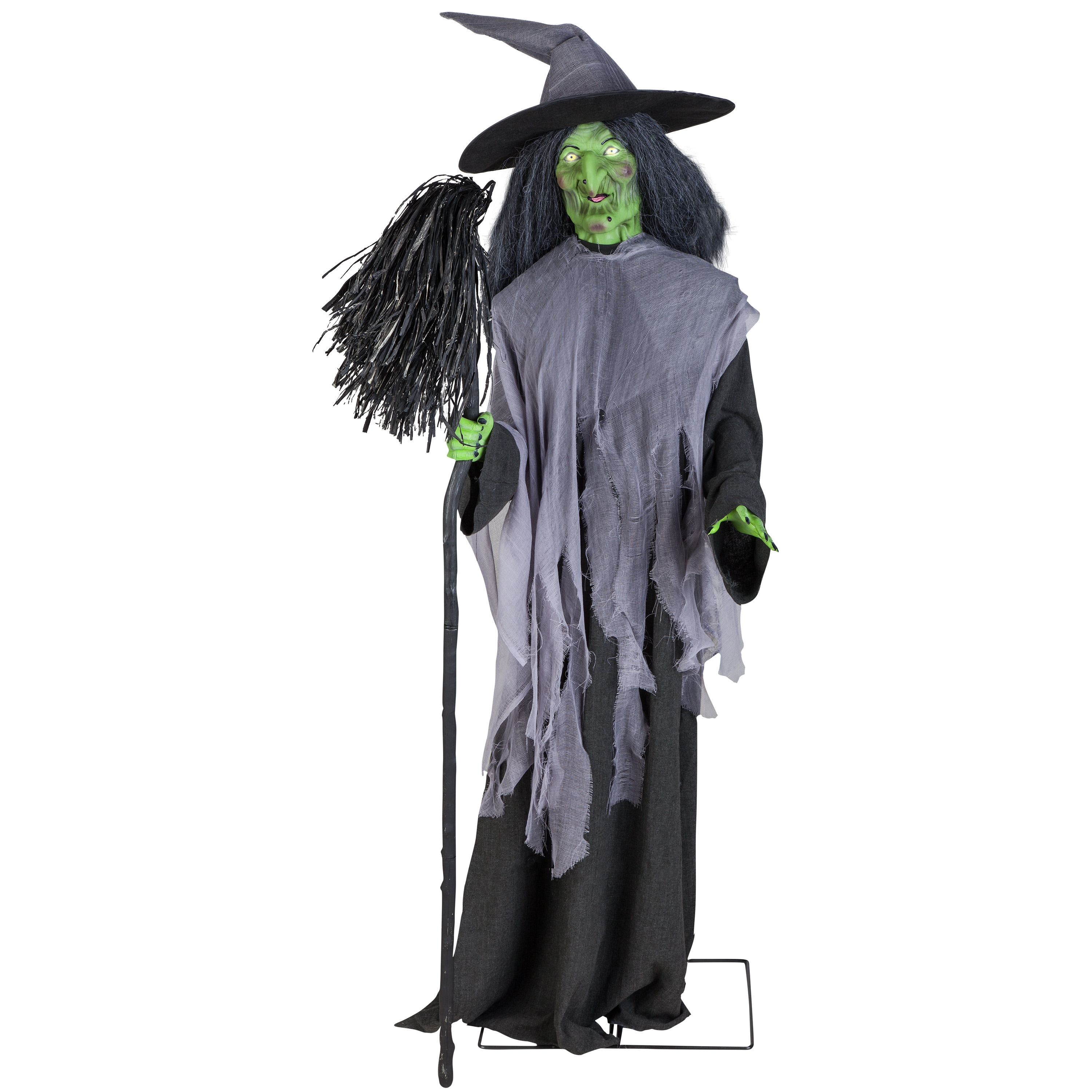 holiday living animated evil witch w/broom at lowes