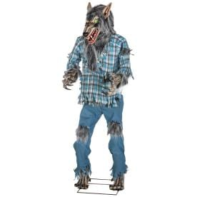 holiday living dc animatronic werewolf pre lit lifesize greeter with constant green led lights