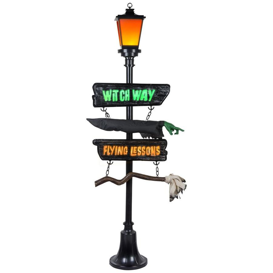 holiday living hl witch way lamp post at lowes com