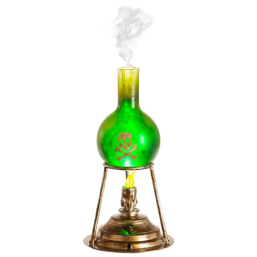 Misting GREEN LAB BEAKER Halloween Prop HAUNTED HOUSE Bubbling Sounds