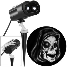 Gemmy Grimmotion Multi-function White Led Multi-design Halloween Indoor/Outdoor
