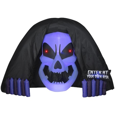 Halloween Schort.Gemmy Projection Airblown Short Circuit Hooded Reaper 12