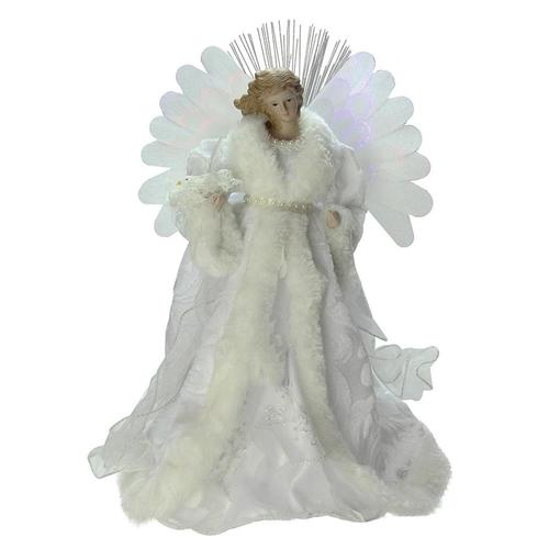 Northlight 13-in Angel White Christmas Tree Topper at ...