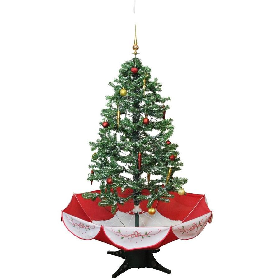 Snowing And Musical Christmas Tree: Northlight 4.5-ft Snowing Artificial Christmas Tree At