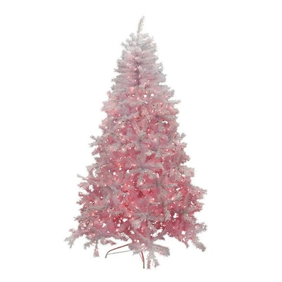 Pink Artificial Christmas Tree.Northlight 7 Ft 6 In Pre Lit Cedar Pine Artificial Christmas