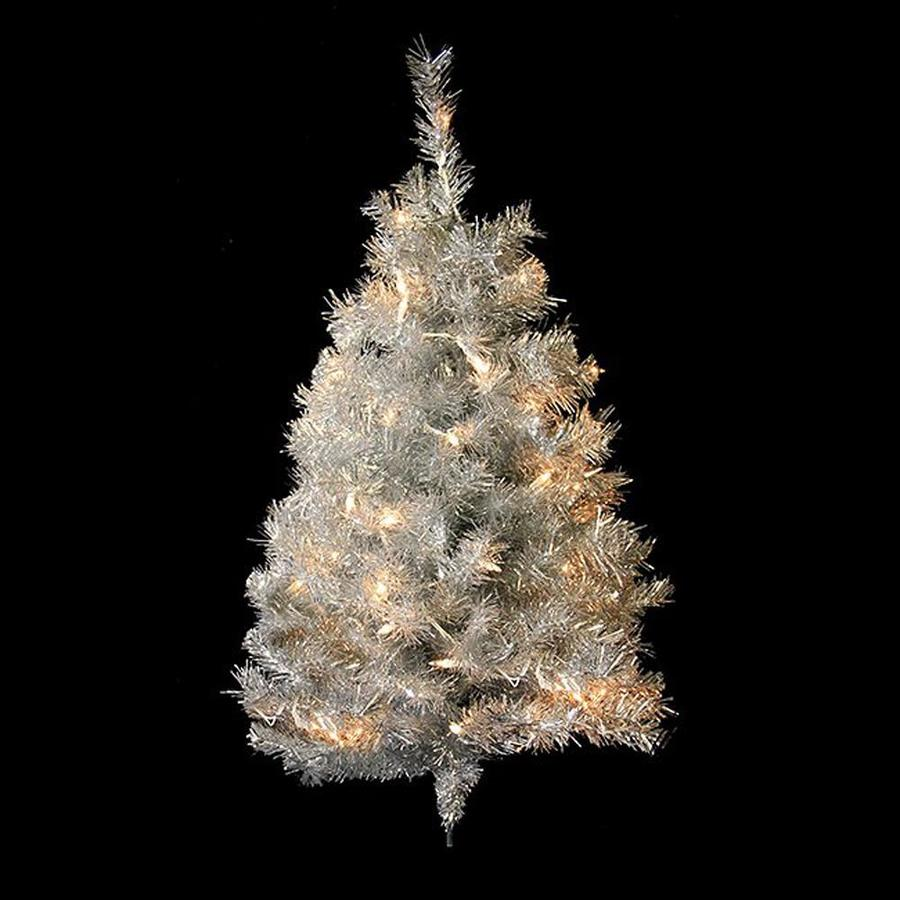 Northlight 3-ft Pre-lit Tinsel Artificial Christmas Tree