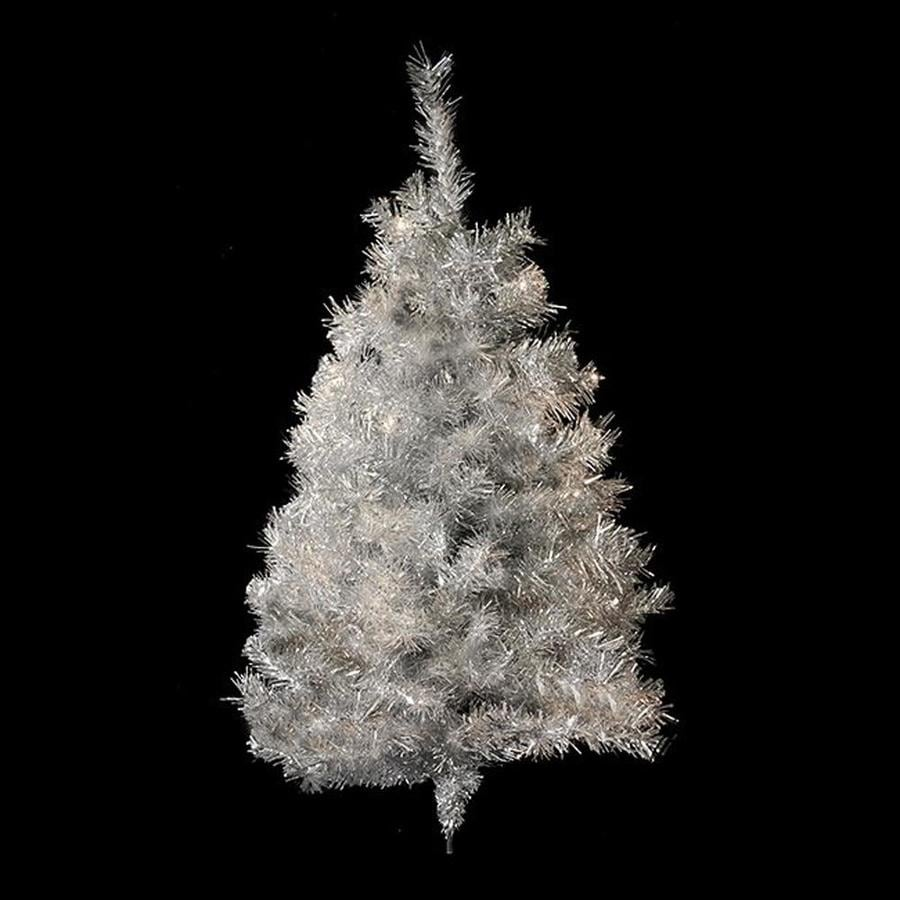 Real Christmas Trees Lowes: Northlight 3-ft Tinsel Artificial Christmas Tree At Lowes.com