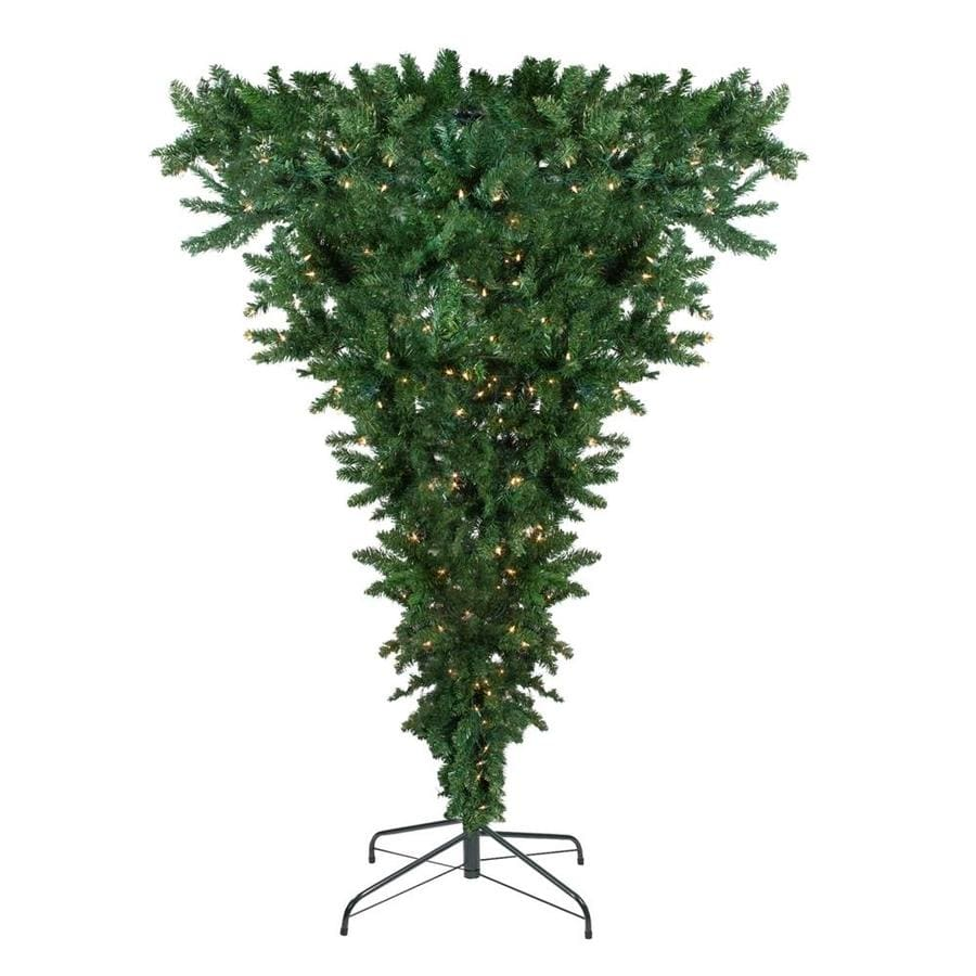 Real Christmas Trees Lowes: Northlight U-PSIde Down Spruce Christmas Tree At Lowes.com
