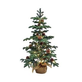 Indoor Outdoor Burlap Base Artificial Christmas Trees At Lowes Com