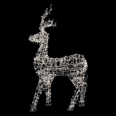 60 In Reindeer With White Led Lights