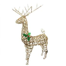Northlight 57-in Lighted Standing Grapevine Reindeer Outdoor Christmas Decoration