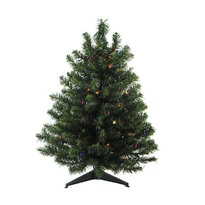 100% authentic aec0d 57319 3-ft Pre-lit Artificial Christmas Tree with 100 Multicolor LED Lights