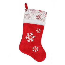 9b3d7b2ddfb Northlight Country Cabin 20.5-in Red Snowflake Christmas Stocking