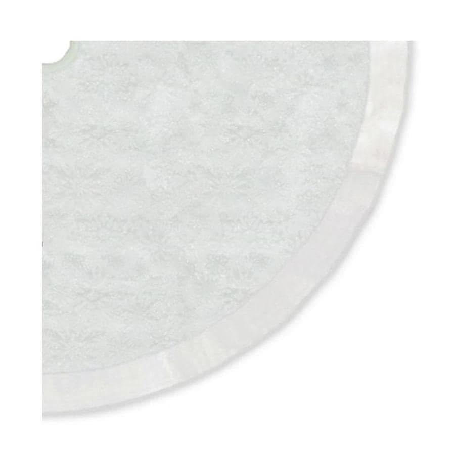 Lowes Christmas Tree Skirts: Northlight 48-in White Polyester Snowflake Christmas Tree