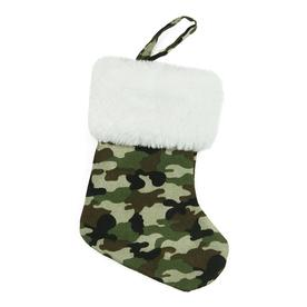 Northlight 7-in Green Camo Christmas Stocking