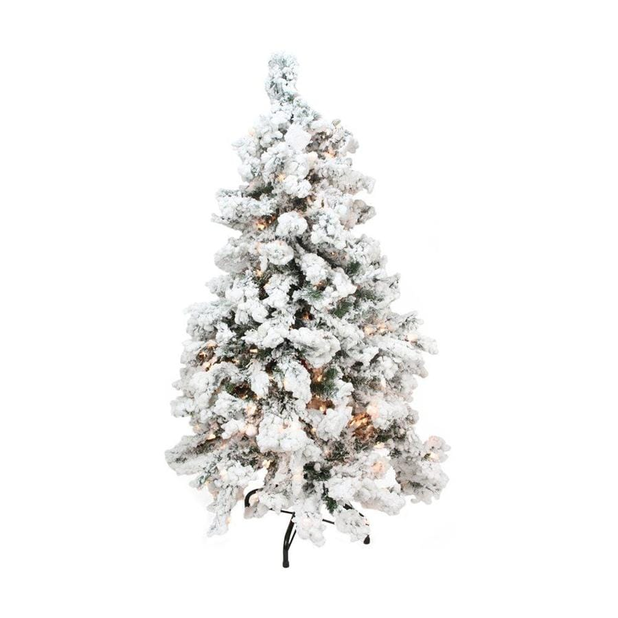 2 Ft White Christmas Tree: Northlight 2-ft 6 Pre-lit Flocked Artificial Christmas