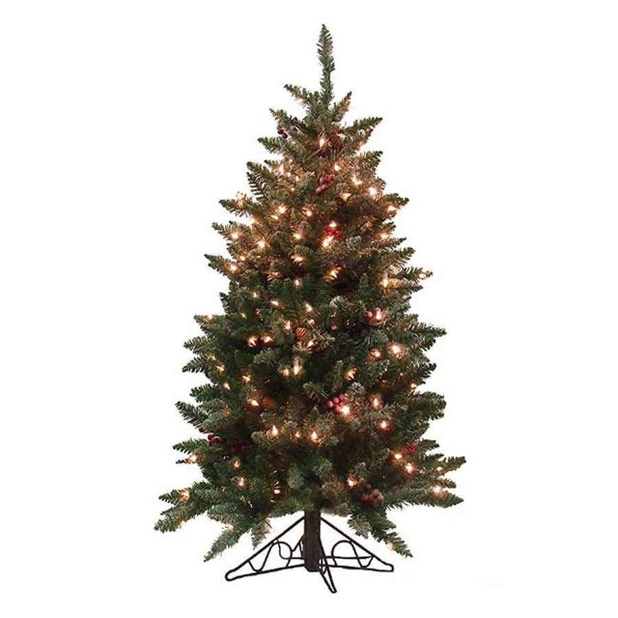 4 Ft White Christmas Trees Artificial: Northlight 4-ft 6-in Pre-lit Artificial Christmas Tree